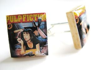 【送料無料】メンズアクセサリ― パルプフィクションカフスリンクユマサーマンカフスリンクユニークpulp fiction cufflinks uma thurman cufflinks handmade unique gift for men