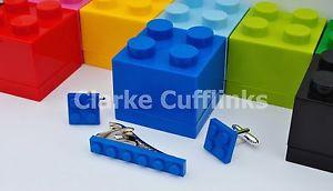 【送料無料】メンズアクセサリ― レゴプレートカフスボタンタイスライドクリップボックスウェディングメンズlego plate cufflinks amp; tie slide clip gift box wedding birthday mens gift