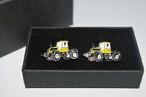 【送料無料】メンズアクセサリ― jcb fastracトターカフスリンクaccessorieエナメルyellow jcb fastrac tractor cufflinks gift boxed gift wedding accessorie enamel