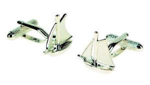 【送料無料】メンズアクセサリ― ヨットセーリングカフスボタンシルバーセールyacht sailing cufflinks with silver sails 14693