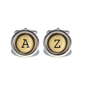 【送料無料】メンズアクセサリ― カスタムヴィンテージタイプライターカフリンクスcustom vintage typewriter letter initial cufflinks