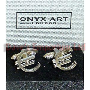 【送料無料】メンズアクセサリ― ユーロオニキスアートカフスボタンボックスマネートレーダーeuro cufflinks by onyx art gift boxed finance sign money trader