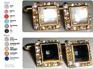 送料無料 メンズアクセサリ― クリスマスチェスクリスタルカフスボタンスワロフスキーxmas wedding gift chess encrusted crystal cufflinks made with swarovski elementsCxodBe