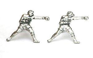【送料無料】メンズアクセサリ― ボクシングピューターカフスボタンボックスboxing fight pewter cufflinks gift boxed or pouched quantity discount