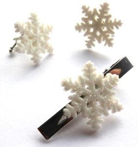 【送料無料】メンズアクセサリ― beautiful handmade sparkly snowflake cufflinkstie pinsetfree gift bagbeautiful handmade sparkly snowflake cufflinks tie p