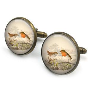 【送料無料】メンズアクセサリ― ロビンカフスボタンカフリンクスロビンクリスマスロビンenglish robin 20mm cufflinks cuff links, english robin, christmas robin