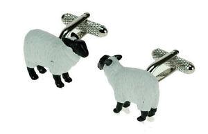 正規激安 【送料無料】メンズアクセサリ― 12625 ボックスホワイトカフスリンク12625farmyard box animals white sheep novelty white cufflinks in gift box 12625, 西麻布レクラン:a34474d8 --- plateau.ru