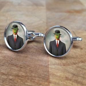 【送料無料】メンズアクセサリ― ルネマグリット20mmカフスリンクカフスリンクson of man rene magritte artist 20mm cufflinks cuff links