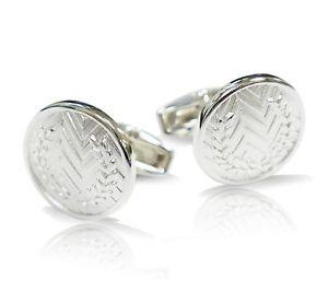 【送料無料】メンズアクセサリ― silver plain crest cufflink