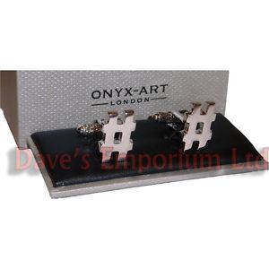 【送料無料】メンズアクセサリ― オニキスアートボックスシルバーハッシュタグカフリンクカフリンクスhashtag cufflinks by onyx art gift boxed silver hash tag cuff links
