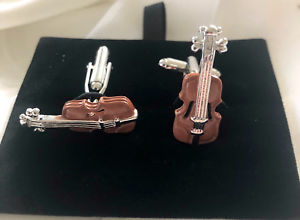 【送料無料】メンズアクセサリ― バイオリンカフスリンクviolin musical instrument cufflinks