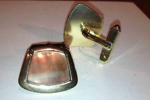 【送料無料】メンズアクセサリ― ビンテージカフリンクスvintage gold plated cuff links circa 1970