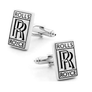 【送料無料】メンズアクセサリ― ロールスロイスロゴメンズラグジュアリーカフリンクスhigh quality polished rolls royce car logo mens luxury cufflinks