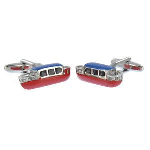 【送料無料】メンズアクセサリ― カフスリンクnorfolkaj478coloured narrow boat cufflinks norfolk broad canal boat aj478 brand in box