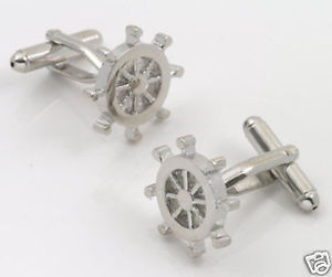 【送料無料】メンズアクセサリ― ホイールカフボックスカフリンクスリンクships wheel cuff links nautical sailing cufflinks in gift box  10399