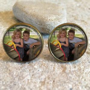 【送料無料】メンズアクセサリ― パーソナライズカフリンクスpersonalised photo image 20mm cufflinks