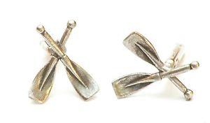 【送料無料】メンズアクセサリ― ピューターカフリンクスボックスイノシシレースrowing oars pewter cufflinks , boar race gift for rower or oarsman gift box