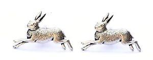 【送料無料】メンズアクセサリ― カフスボタンピューターハンドメイドボックスhare cufflinks pewter uk hand made gift boxed or pouched quantity discount