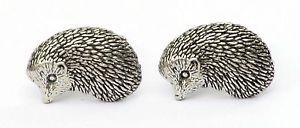 【送料無料】メンズアクセサリ― ハリネズミカフリンクスピューターハンドメイドボックスhedgehog cufflinks pewter hand made gift boxed or pouched quantity discount
