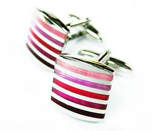 【送料無料】メンズアクセサリ― グラデーションピンクカフリンクスハンドペイントエナメルカフリンクgradient pink cufflinks hand painted enamel cuff links gemelos 70 for 7 items