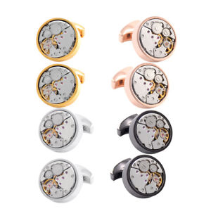【送料無料】メンズアクセサリ― メンズカフスボタンカスタムカフリンクヴィンテージmens cufflinks steampunk wedding custom cuff links vintage watch movement