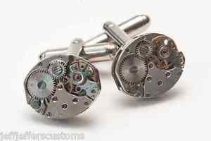 【送料無料】メンズアクセサリ― カフスボタンメンズビンテージカフリンク16mm oval watch movement cufflinks mens vintage steampunk wedding cuff links