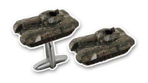 【送料無料】メンズアクセサリ― メンズメタルカフスボタンチャーチルアーミータンク mens novelty metal cufflinks churchill army tank