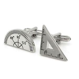 【送料無料】メンズアクセサリ― カフスボタンプレゼントイギリスmaths protractor ruler teacher school cufflinks novelty fun birthday gift uk