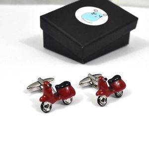 【送料無料】メンズアクセサリ― レトロスクーターカフスボタンretro 50s60s scooter mod cufflinks bnwtbnib boxed gift