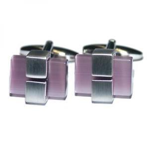【送料無料】メンズアクセサリ― カフリンクス×purple opaque stone cufflinks x2psf192