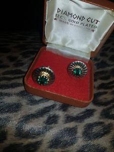 【送料無料】メンズアクセサリ― メンズヴィンテージカフスボタンゴールドmens vintage cufflinks gold