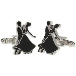 【送料無料】メンズアクセサリ― ダンサーオニキスアートボックスダンスシャツカフリンクスballroom dancers dancing shirt cufflinks in onyx art cufflink box