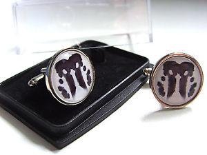 【送料無料】メンズアクセサリ― ロールシャッハバッジメンズカフスボタンwatchmen rorschach badge mens cufflinks gift