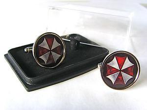 【送料無料】メンズアクセサリ― バイオハザードアンブレラメンズカフスボタンresident evil umbrella corporation mens cufflinks gift