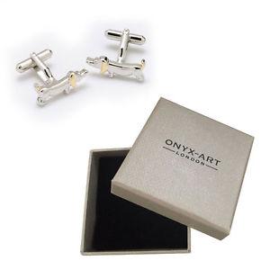 【送料無料】メンズアクセサリ― メンズソーセージダックスフントカフリンクスオニキスアートボックスオンmens sausage dog dachshund cufflinks amp; gift box by onyx art