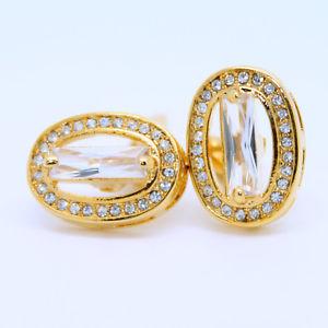 【送料無料】メンズアクセサリ― ゴールドカフリンクスgold coloured with stones wedding cufflinks