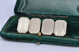 【送料無料】メンズアクセサリ― ビンテージスターリングシルバーアールデコデザインカフリンクスvintage sterling silver cufflinks with an art deco design g113