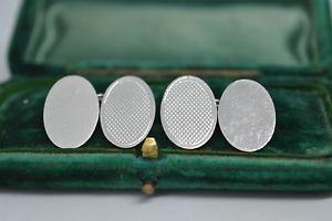 【送料無料】メンズアクセサリ― ビンテージスターリングシルバーアールデコデザインカフリンクスvintage sterling silver cufflinks with an art deco design b719