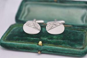 【送料無料】メンズアクセサリ― ビンテージスターリングシルバーアールデコデザインカフリンクスvintage sterling silver cufflinks with an art deco design b823