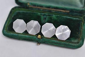 【送料無料】メンズアクセサリ― ビンテージスターリングシルバーアールデコデザインカフリンクスvintage sterling silver cufflinks with an art deco design g180