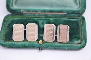 【送料無料】メンズアクセサリ― ビンテージスターリングシルバーアールデコデザインカフリンクスvintage sterling silver cufflinks with an art deco design b541