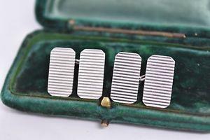 【送料無料】メンズアクセサリ― ビンテージスターリングシルバーアールデコデザインカフリンクスvintage sterling silver cufflinks with an art deco design g59