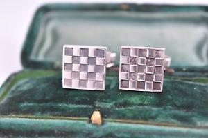 【送料無料】メンズアクセサリ― ビンテージスターリングシルバーアールデコデザインカフリンクスvintage sterling silver cufflinks with an art deco design g48