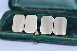 【送料無料】メンズアクセサリ― ビンテージスターリングシルバーアールデコデザインカフリンクスvintage sterling silver cufflinks with an art deco design g68