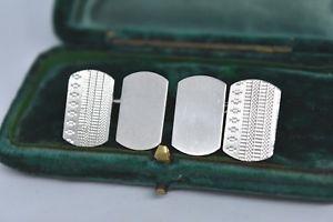 【送料無料】メンズアクセサリ― ビンテージスターリングシルバーアールデコデザインカフリンクスvintage sterling silver cufflinks with an art deco design g86