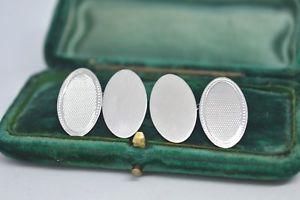 【送料無料】メンズアクセサリ― ビンテージアールデコデザインスターリングシルバーカフリンクスvintage sterling silver cufflinks with an art deco design b827