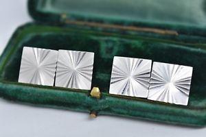 【送料無料】メンズアクセサリ― ビンテージスターリングシルバーアールデコデザインカフリンクスvintage sterling silver cufflinks with an art deco design g73