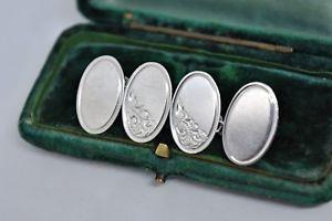 【送料無料】メンズアクセサリ― ビンテージスターリングシルバーアールデコデザインカフリンクスvintage sterling silver cufflinks with an art deco design g204