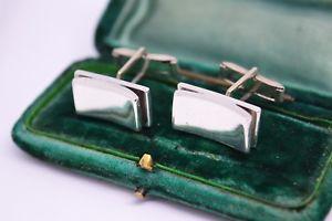 【送料無料】メンズアクセサリ― ビンテージスターリングシルバーアールデコデザインカフリンクスvintage sterling silver cufflinks with an art deco design b79