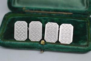 【送料無料】メンズアクセサリ― ビンテージスターリングシルバーアールデコデザインカフリンクスvintage sterling silver cufflinks with an art deco design b710